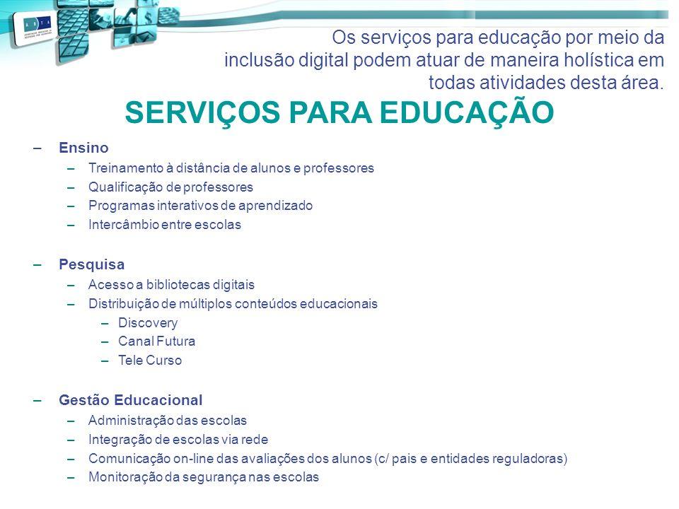 SERVIÇOS PARA EDUCAÇÃO