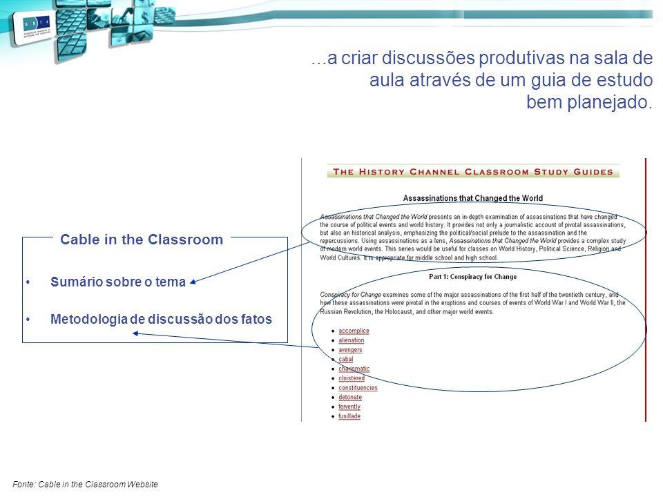 ...a criar discussões produtivas na sala de aula através de um guia de estudo bem planejado.