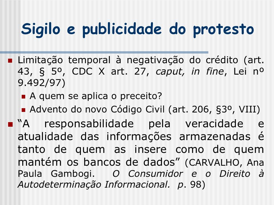 Sigilo e publicidade do protesto
