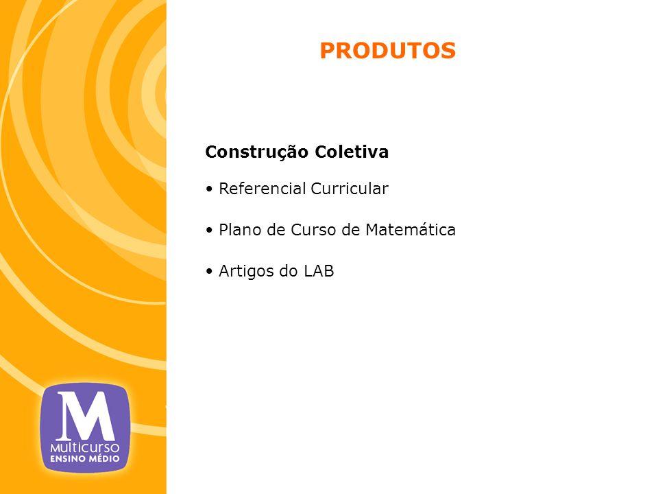 PRODUTOS Construção Coletiva Referencial Curricular