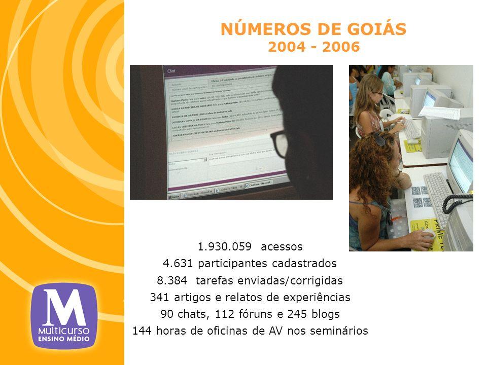 NÚMEROS DE GOIÁS 2004 - 2006 1.930.059 acessos