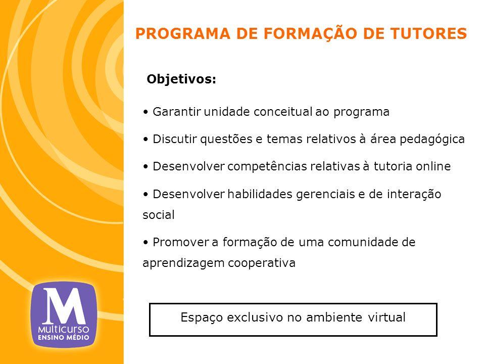 PROGRAMA DE FORMAÇÃO DE TUTORES
