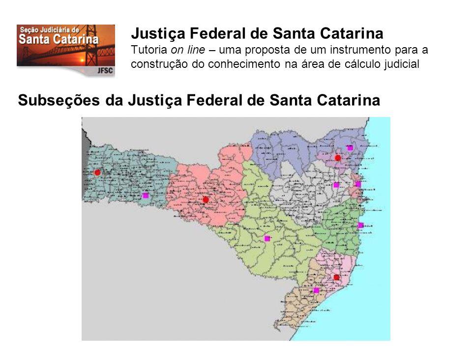 Subseções da Justiça Federal de Santa Catarina