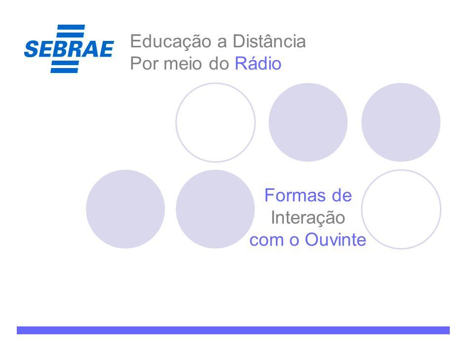 Educação a Distância Por meio do Rádio Formas de Interação com o Ouvinte