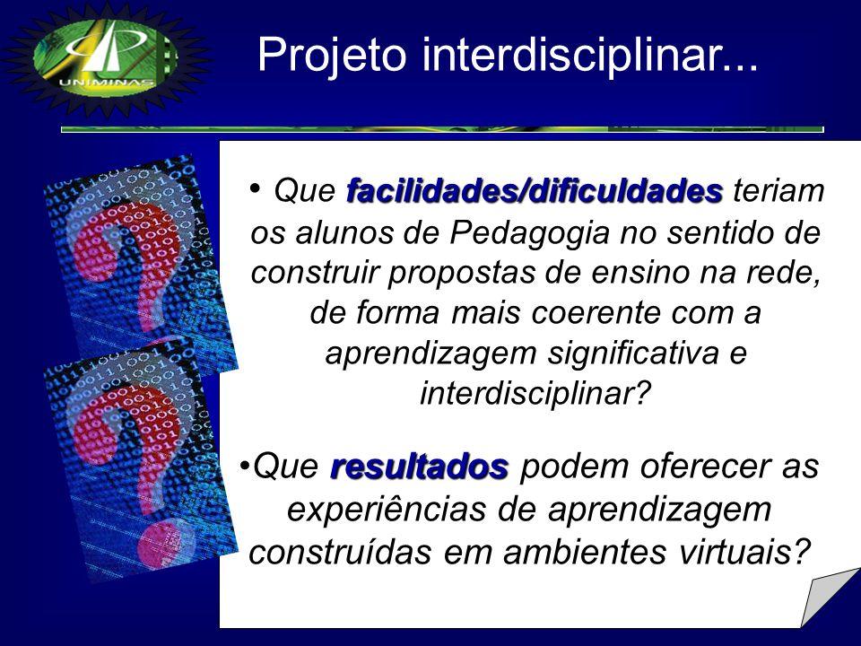 Projeto interdisciplinar...
