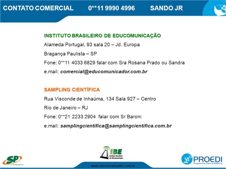 CONTATO COMERCIAL 0**11 9990 4996 SANDO JR