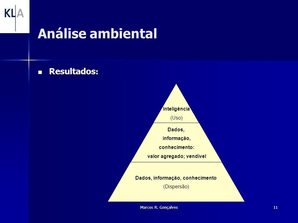 Análise ambiental Resultados: Marcos R. Gonçalves