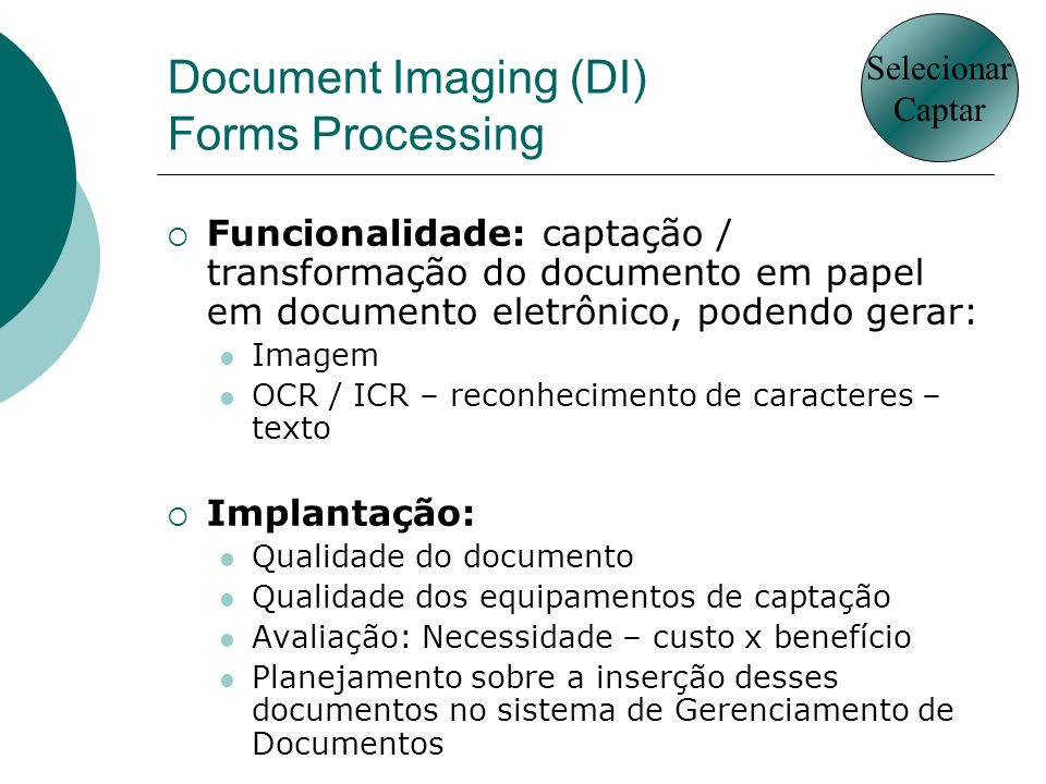 Document Imaging (DI) Forms Processing