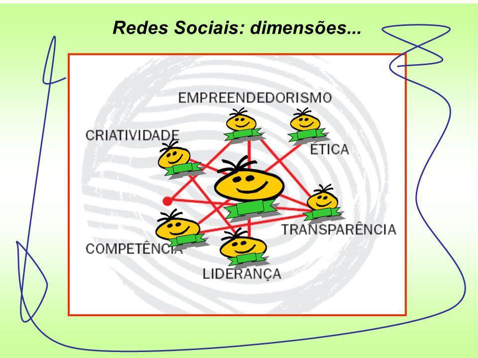 Redes Sociais: dimensões...