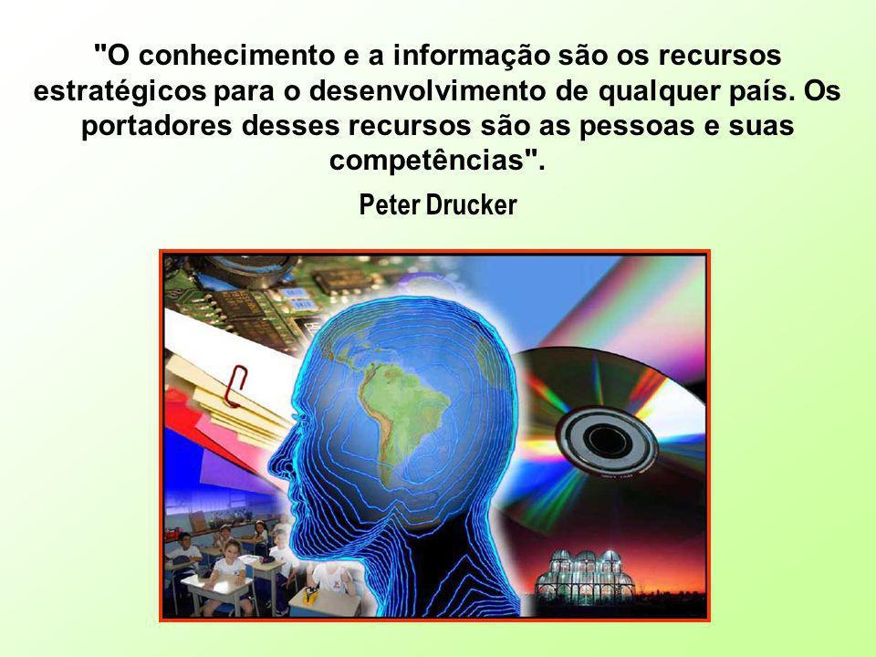 O conhecimento e a informação são os recursos estratégicos para o desenvolvimento de qualquer país. Os portadores desses recursos são as pessoas e suas competências .