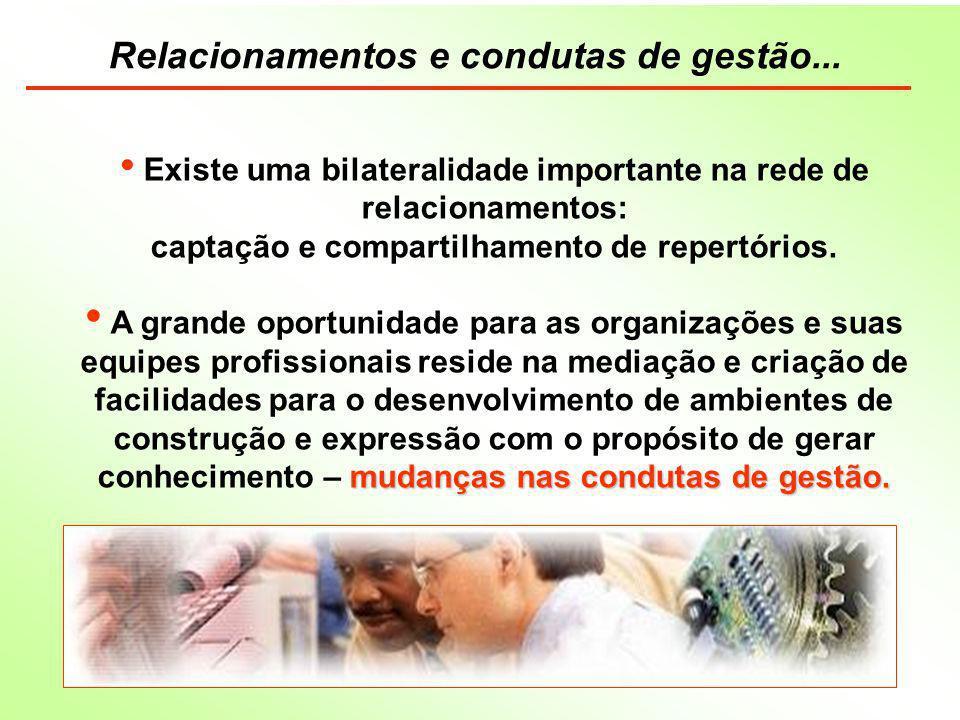 Relacionamentos e condutas de gestão...