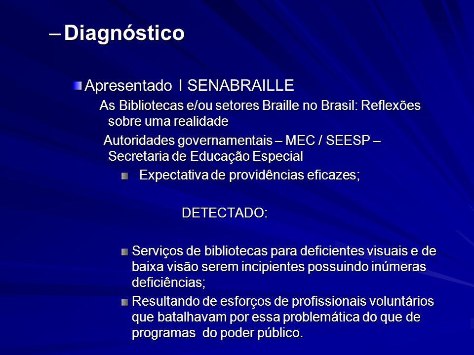 Diagnóstico Apresentado I SENABRAILLE