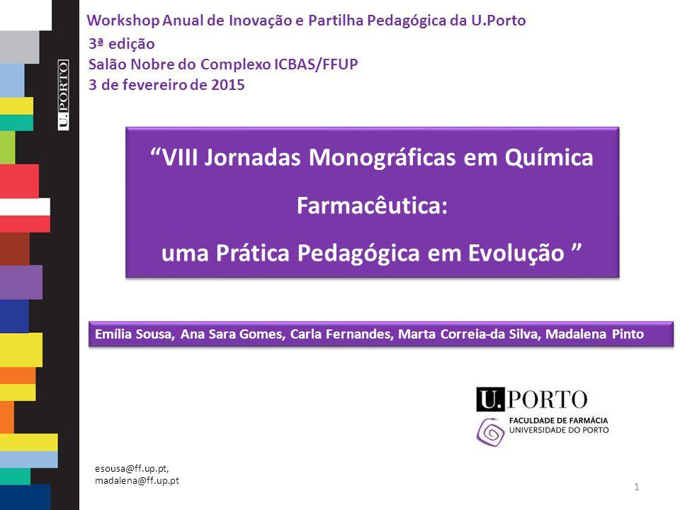 VIII Jornadas Monográficas em Química Farmacêutica:
