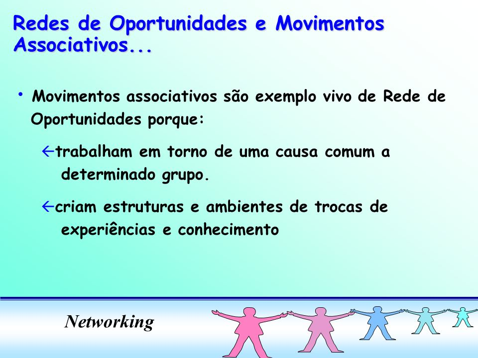 Redes de Oportunidades e Movimentos Associativos...