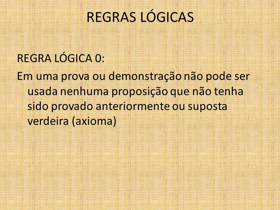 REGRAS LÓGICAS