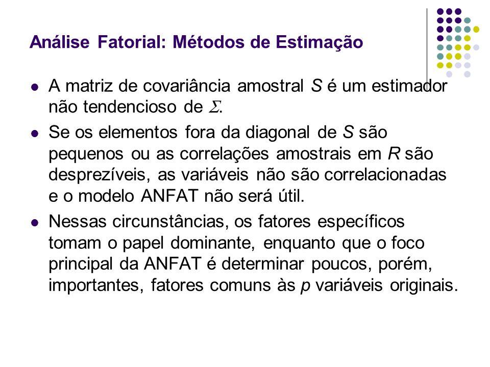 Análise Fatorial: Métodos de Estimação