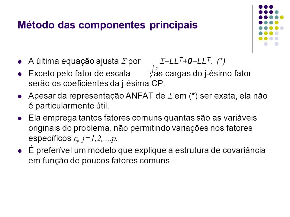Método das componentes principais