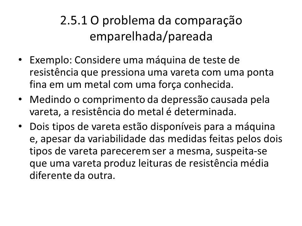 2.5.1 O problema da comparação emparelhada/pareada