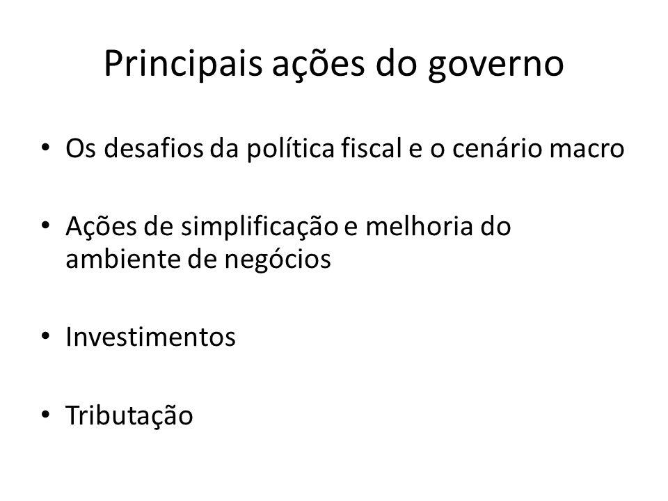 Principais ações do governo