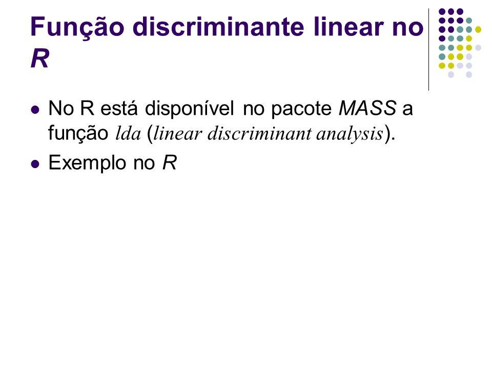Função discriminante linear no R