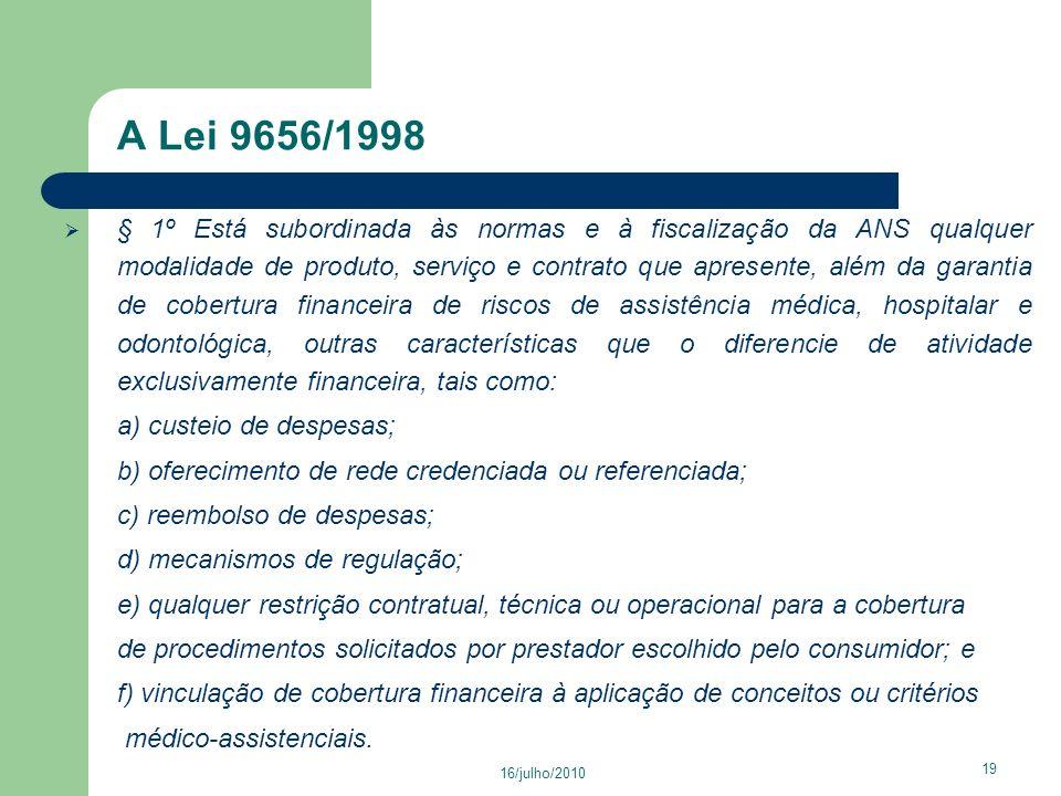A Lei 9656/1998