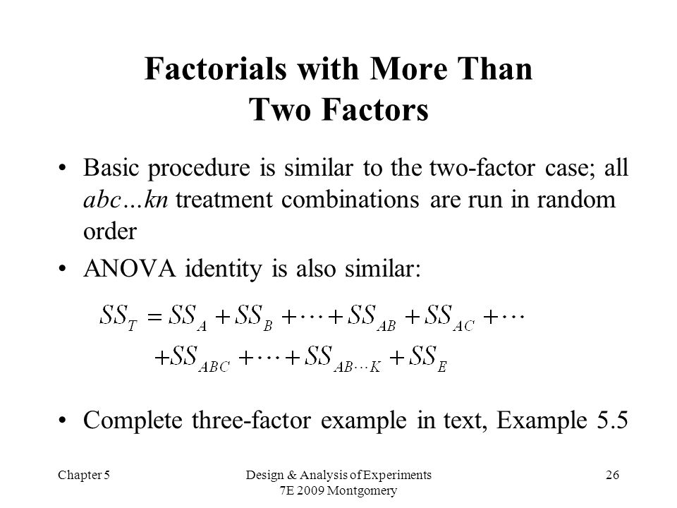 Factorials with More Than Two Factors