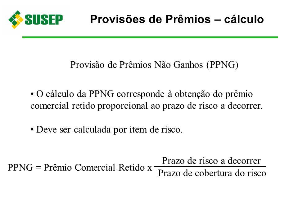 Provisões de Prêmios – cálculo