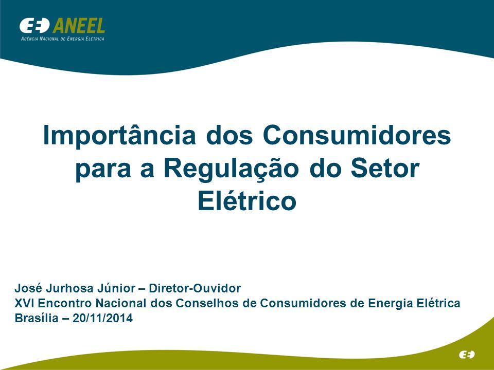 Importância dos Consumidores para a Regulação do Setor Elétrico