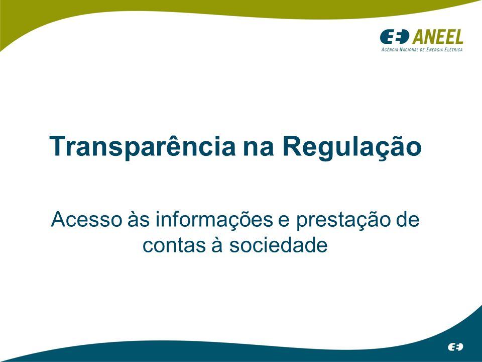 Transparência na Regulação