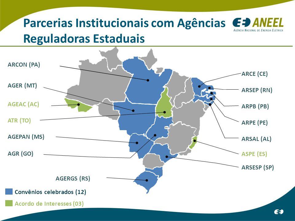 Parcerias Institucionais com Agências Reguladoras Estaduais