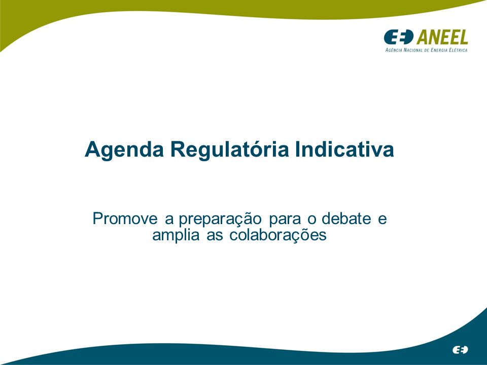 Agenda Regulatória Indicativa