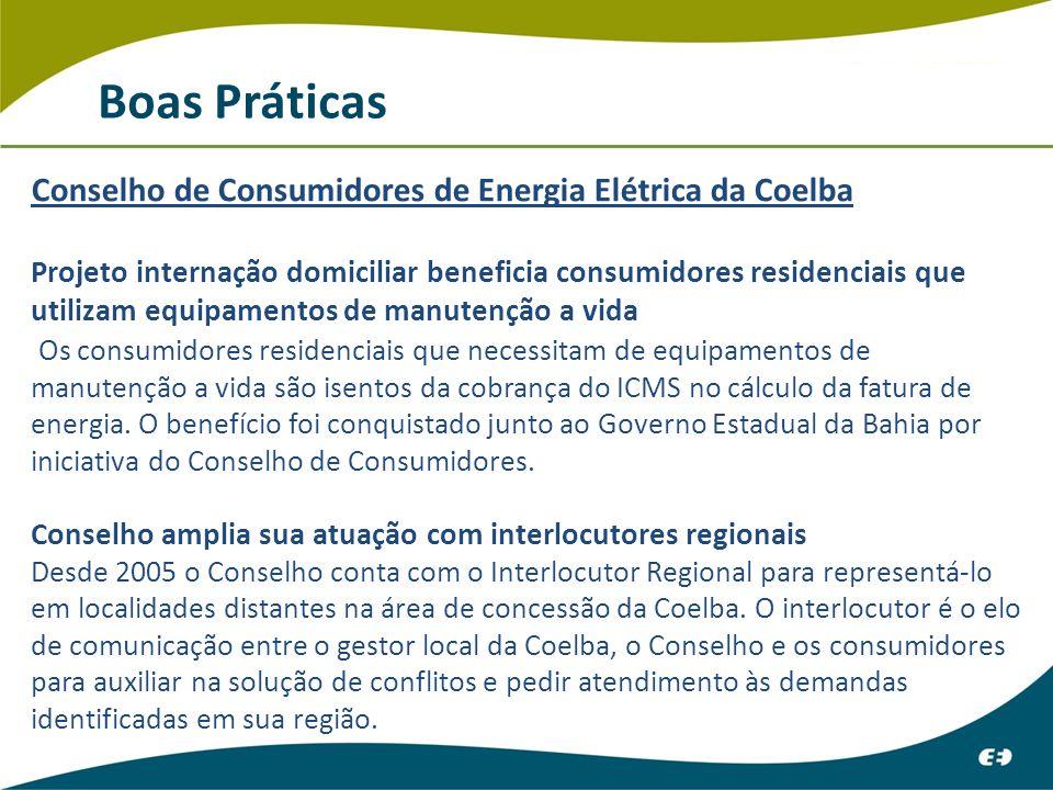 Boas Práticas Conselho de Consumidores de Energia Elétrica da Coelba