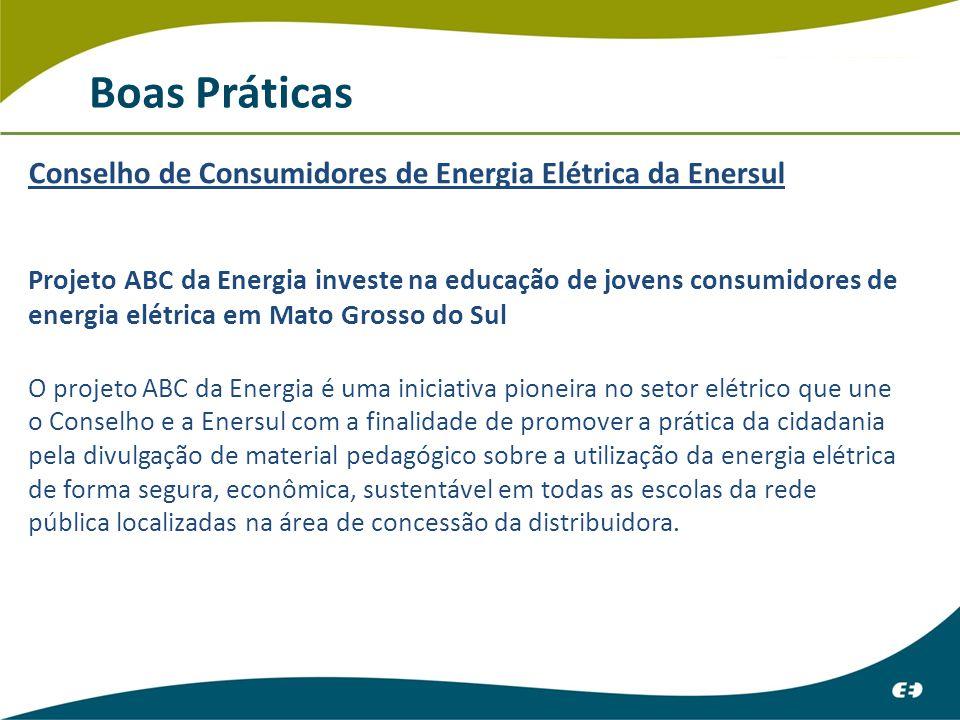 Boas Práticas Conselho de Consumidores de Energia Elétrica da Enersul