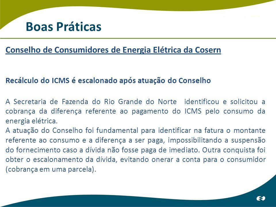 Boas Práticas Conselho de Consumidores de Energia Elétrica da Cosern