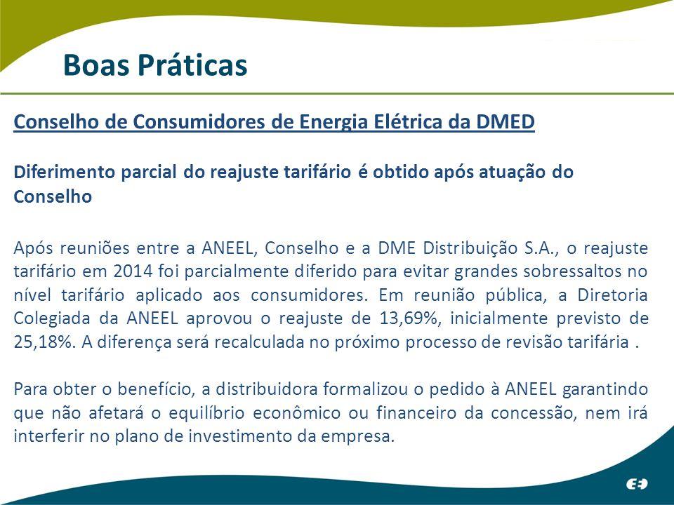 Boas Práticas Conselho de Consumidores de Energia Elétrica da DMED