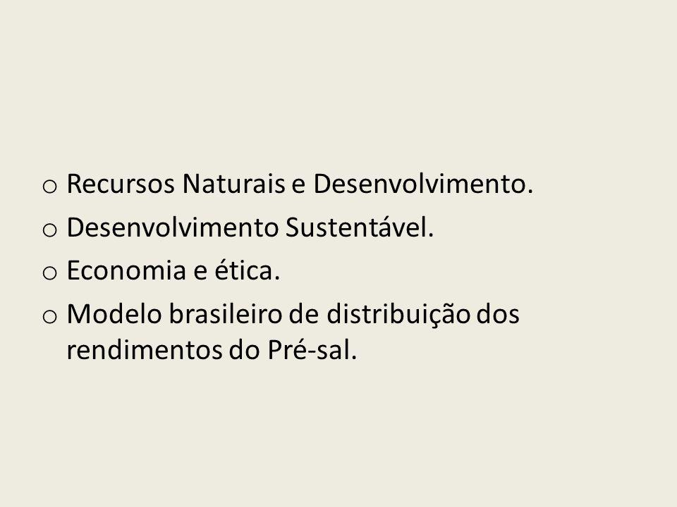 Recursos Naturais e Desenvolvimento.