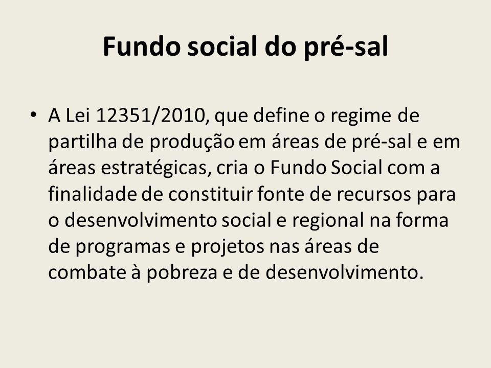 Fundo social do pré-sal