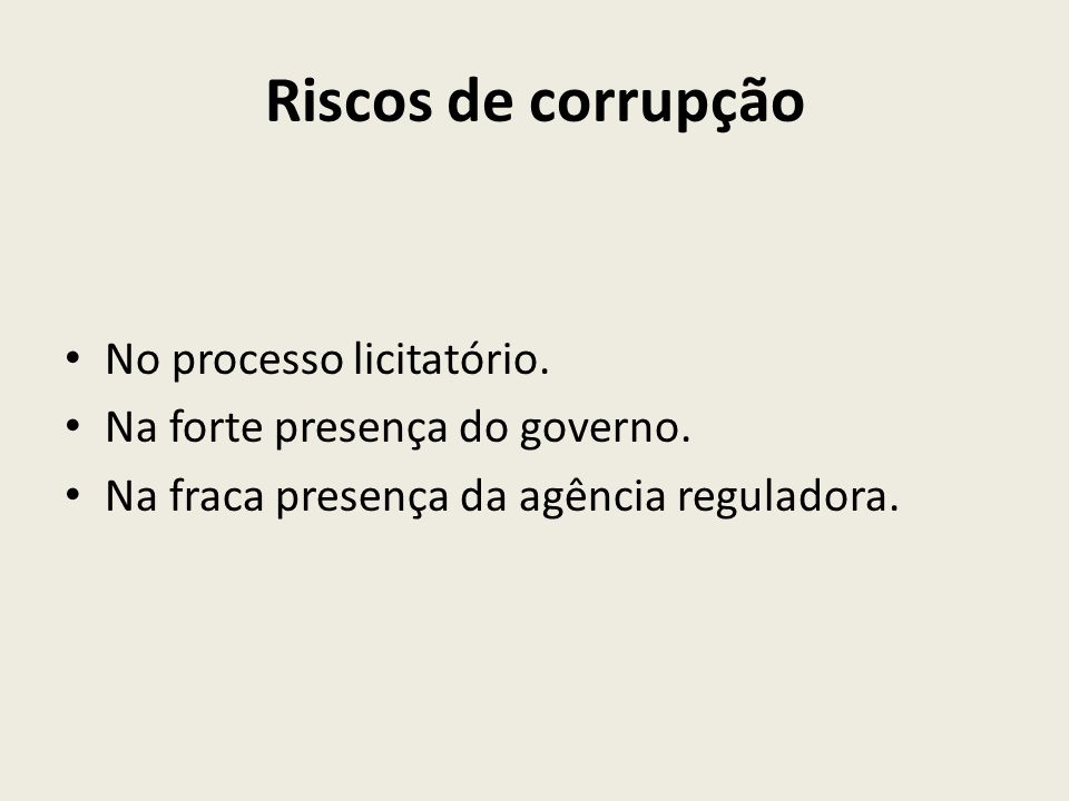 Riscos de corrupção No processo licitatório.
