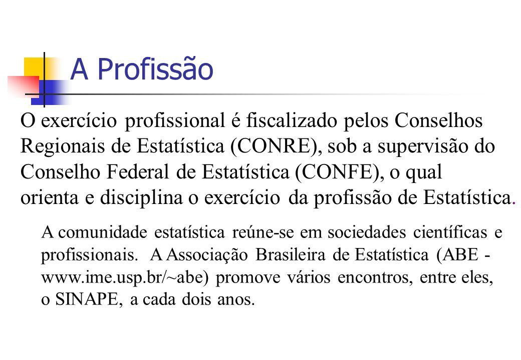 A Profissão O exercício profissional é fiscalizado pelos Conselhos