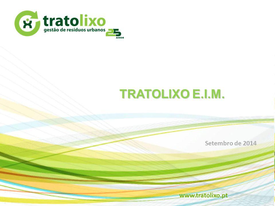 TRATOLIXO E.I.M. Setembro de 2014 www.tratolixo.pt