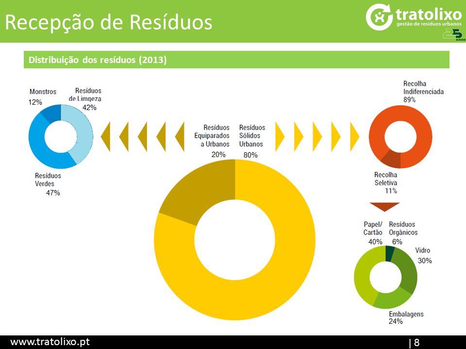 Recepção de Resíduos www.tratolixo.pt Distribuição dos resíduos (2013)