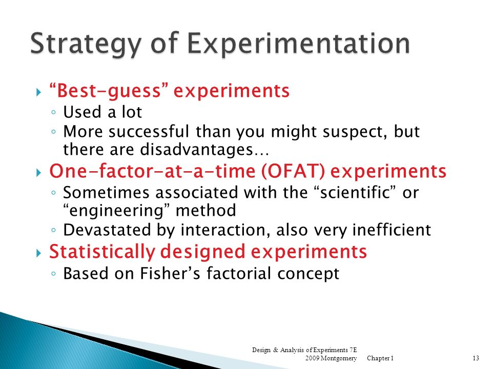 Strategy of Experimentation