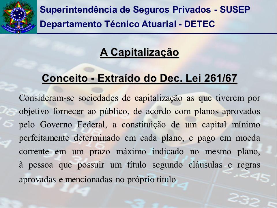 Conceito - Extraído do Dec. Lei 261/67