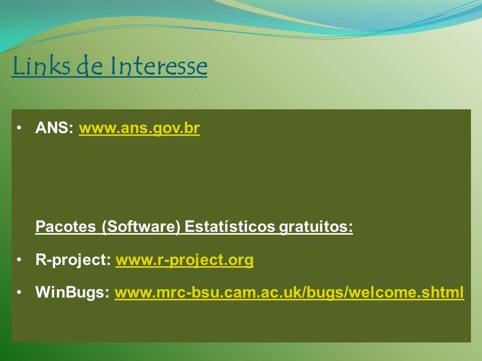 Links de Interesse ANS: www.ans.gov.br