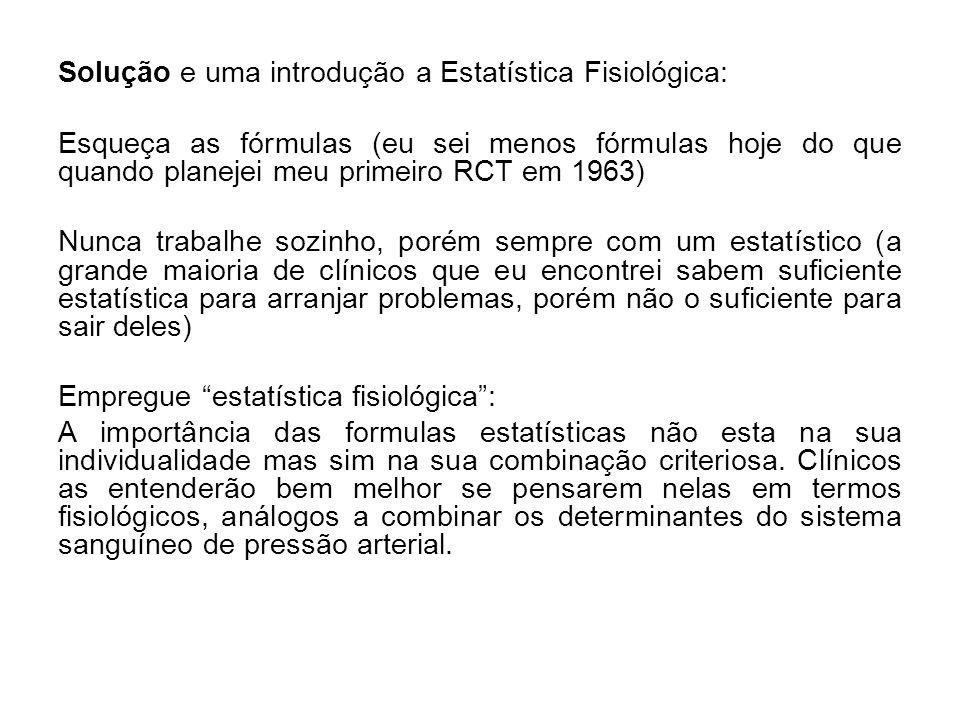 Solução e uma introdução a Estatística Fisiológica:
