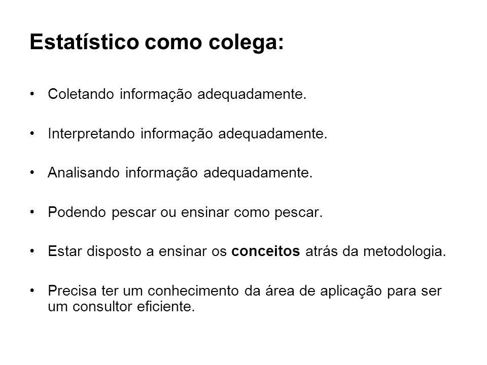 Estatístico como colega:
