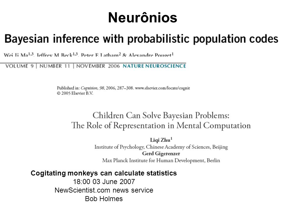 Cogitating monkeys can calculate statistics