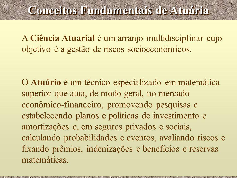Conceitos Fundamentais de Atuária