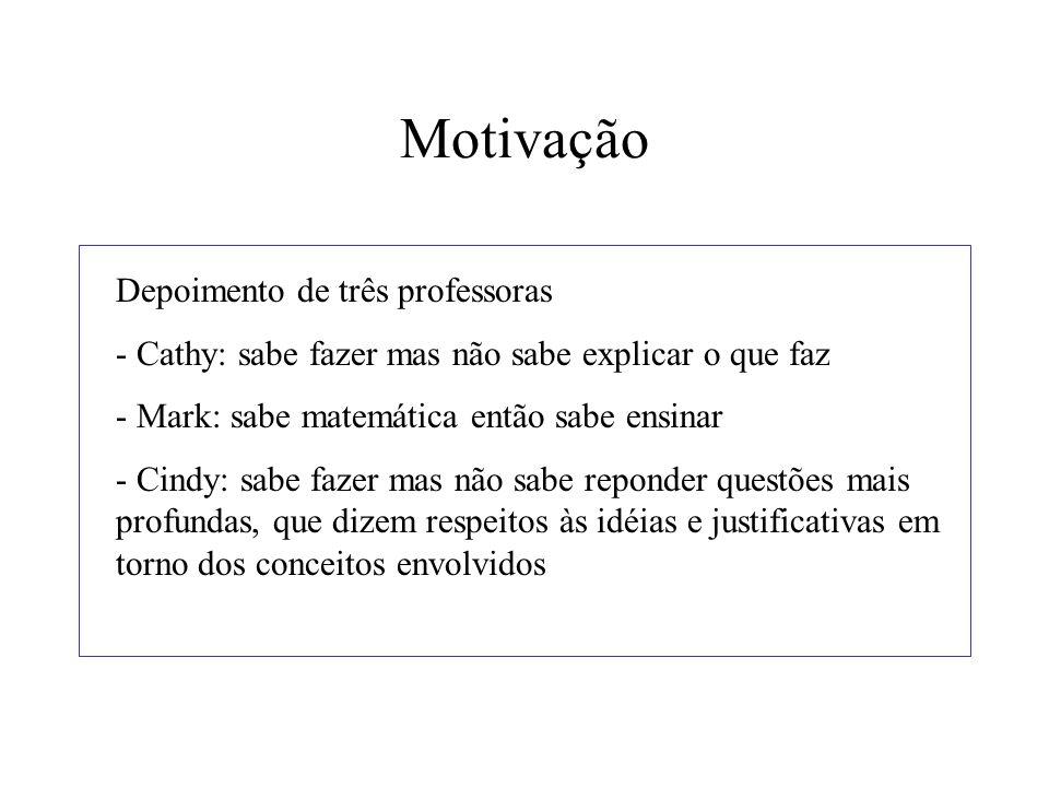 Motivação Depoimento de três professoras