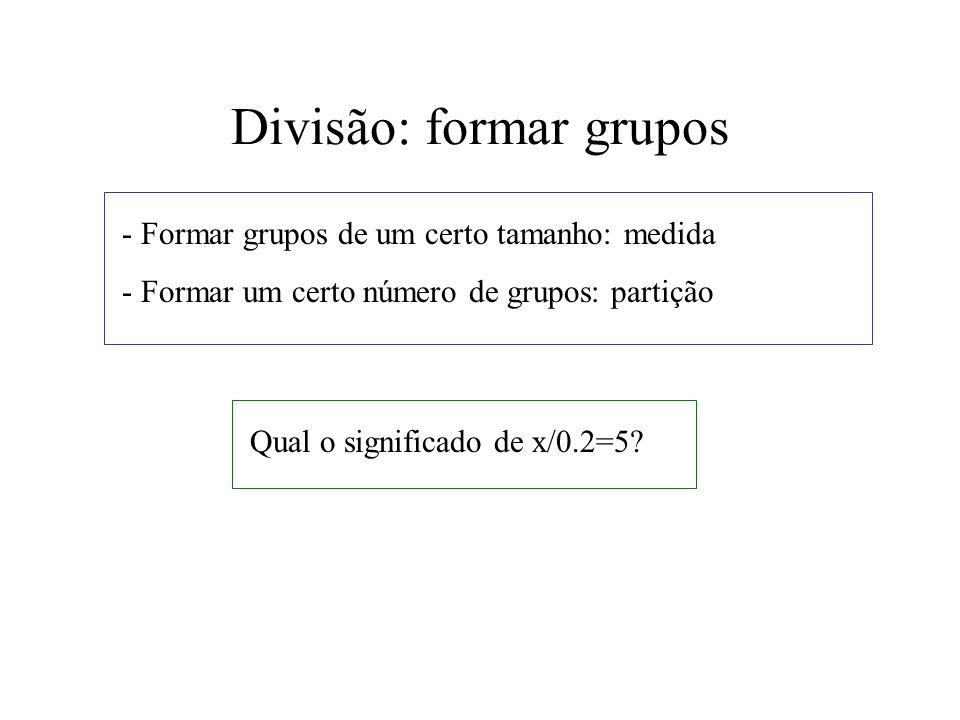 Divisão: formar grupos